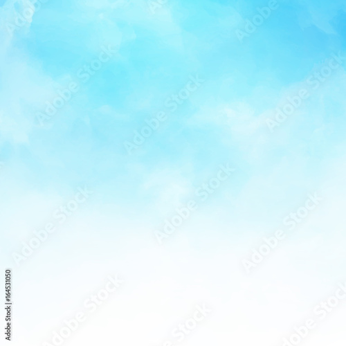 White cloud detail in blue sky vector illustration background copy space