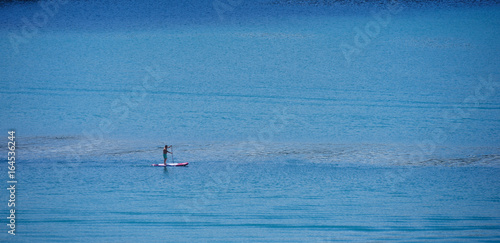 Surfing on the lake