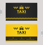 Fototapety Business card for taxi company.