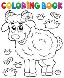 Coloring book happy ram