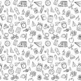 back to school seamless pattern background set