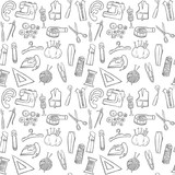 sewing seamless pattern background