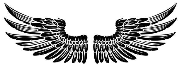 Pair of Vintage Style Wings