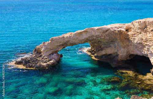 Natural rock arch of Ayia Napa on Cyprus