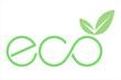 logo eco con foglia e simbolo infinito verde