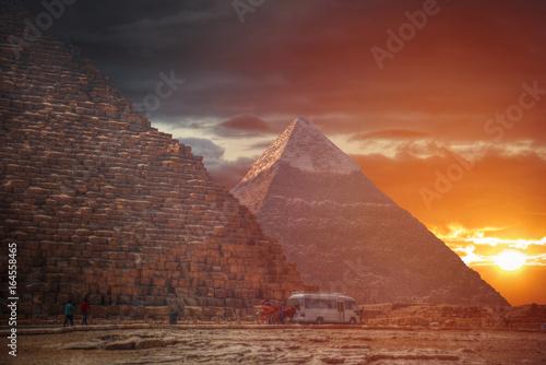 Poster Egyptian pyramids