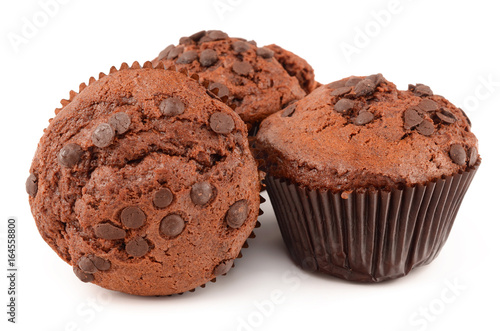 muffins on white background Poster