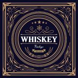 Whiskey Label vintage design retro vector illustration - 164564462