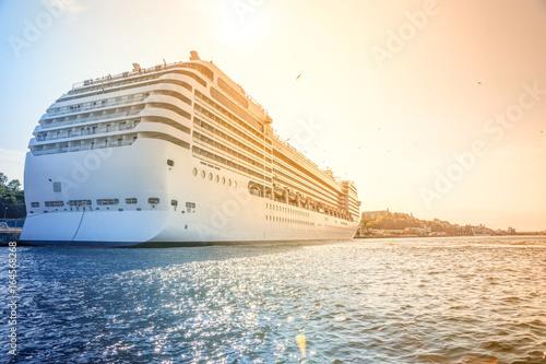 Staande foto Stockholm Kreuzfahrtschiff