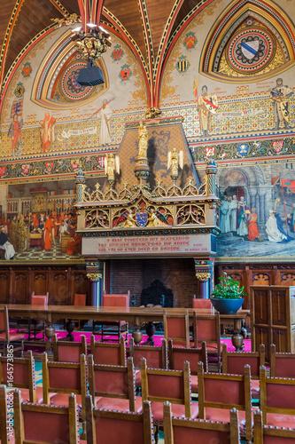 Papiers peints Bruges Interior of Gothic Hall in Brugge Belgium