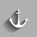 Anchor icon. Vector illustration  with shadow design