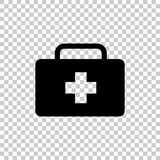 vector icon indicates the presence of first-aid. Doctor. First Aid Kit.  Vector icon illustration. - 164578482