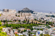 Panorama of continental Greece, famous for the acropolis of Athens and the ancient delphi
