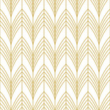 Fototapety Stylish art deco style scales ornament in gold. Seamless vector pattern