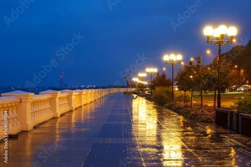 Evening embankment of the Volga in Nizhny Novgorod