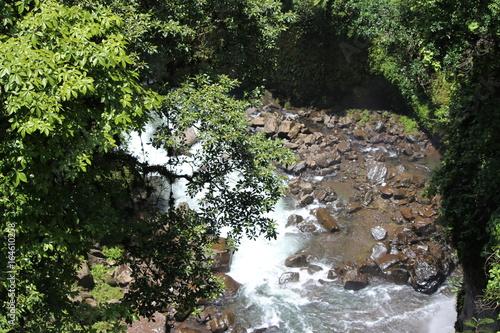 Tuinposter Weg in bos Cascada de la monja