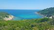 Beautiful beach on Skiathos island in Greece, windy summer day in June - 164616018