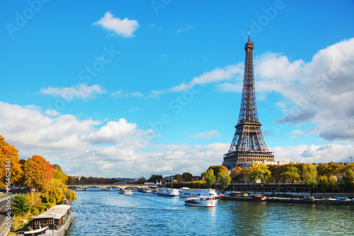Cityscape of Paris with the Eiffel tower Poster