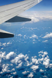 Beautiful views under the wing of an airplane
