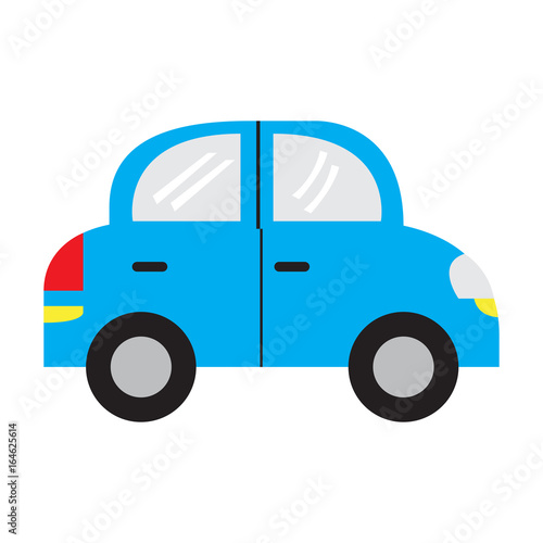 Isolated car toy on a white background, Vector illustration