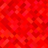 Colored square pattern background - geometric vector illustration from diagonal squares in red tones