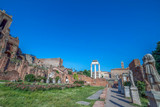 Alley of the Vestals with statues in the Roman Forum, Rome, Italy. - 164637252