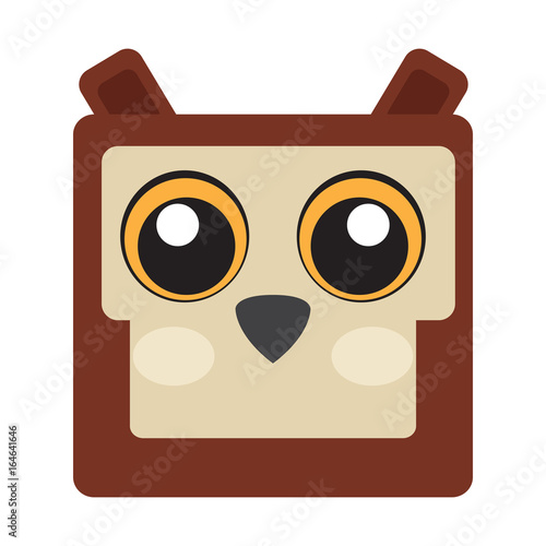 Isolated face of an owl, Vector illustration
