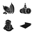 textiles, nature, order and other web icon in black style.sports, training, cloth, icons in set collection. - 164643698
