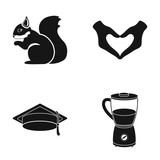 tool, kitchen, education and other web icon in black style.dessert, glass, pen icons in set collection.