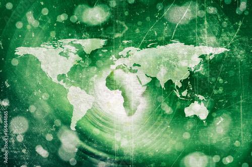 Fotobehang Wereldkaarten abstract world map