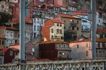 Houses in the old centre of Porto, Portugal.