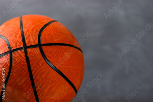 Basketball on a dark background. Poster