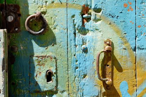 Detail einer alten Tür Poster