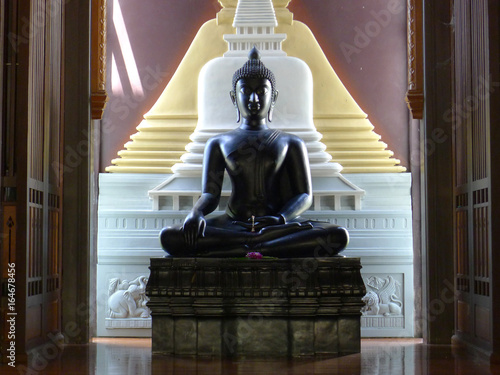 Black Buddha statue / Buddha image in Thailand