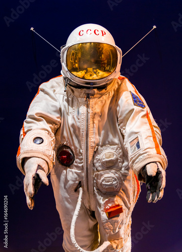 Russian astronaut spacesuit in Saint Petersburg space museum - 164690204