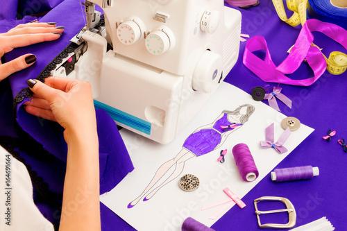 Sewing concept. Dressmaker - 164691664