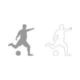 Footballer  set  icon .