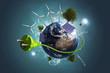 Leinwandbild Motiv Grüne Energie
