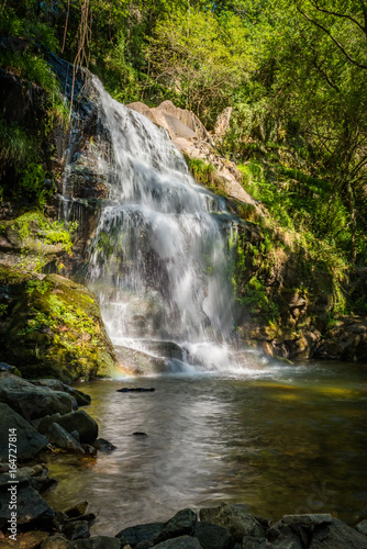 Beautiful waterfall in Cabreia Portugal - 164727814