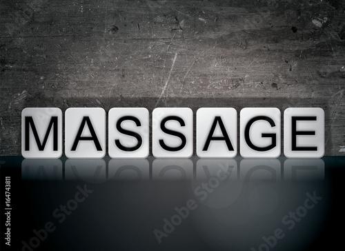 Massage Concept Tiled Word