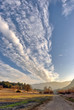 Unusual clouds over California landscape