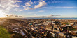 Aerial panoramic photograph of the North West Edinburgh's. Holyrood Park, Scotland, UK - 164746243
