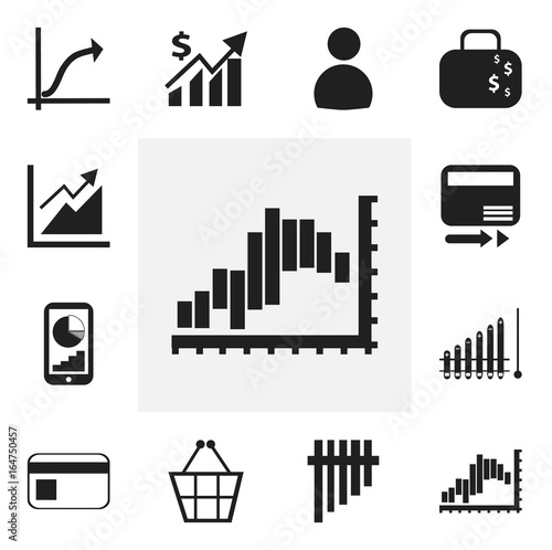set of 12 editable analytics icons  includes symbols such