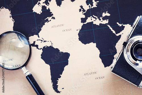 Fototapeta Travel concept on map