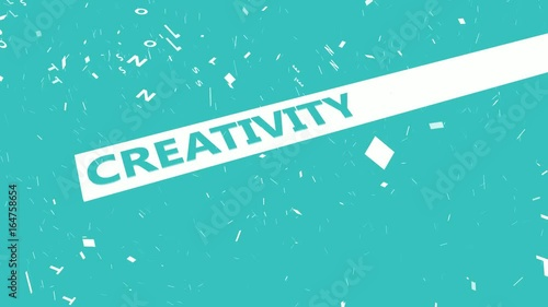 Creativity Presentation Background in Blue and White