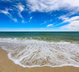 summer scene over sea