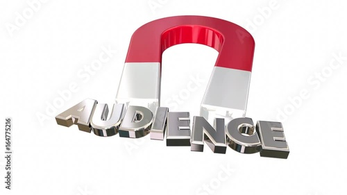 Magnet Attracting Audience Visitors Customers Word Letters 3d Animation