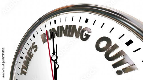 Times Running Out Clock Deadline Coming 3d Animation