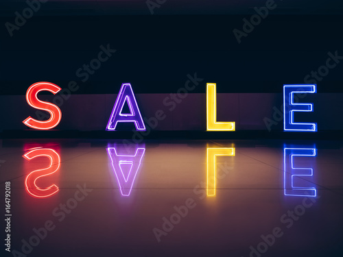 Sale neon sign Colourful signage Shop display