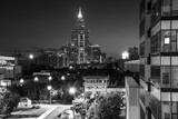 Moscow at night, black and white